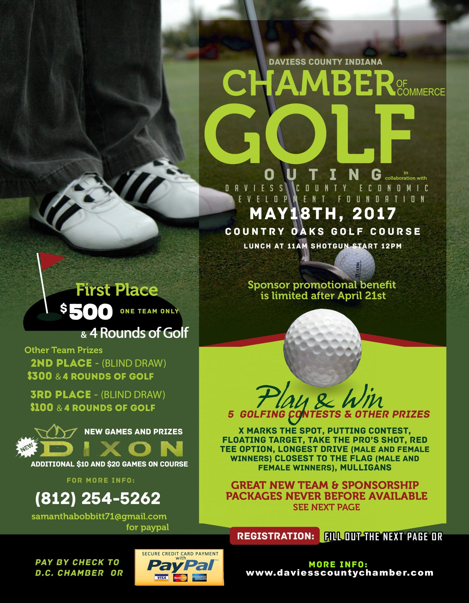 Daviess County Chamber Golf Outing May 18