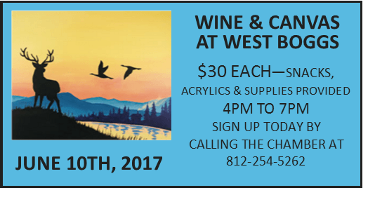 Wine and Canvas at West Boggs!