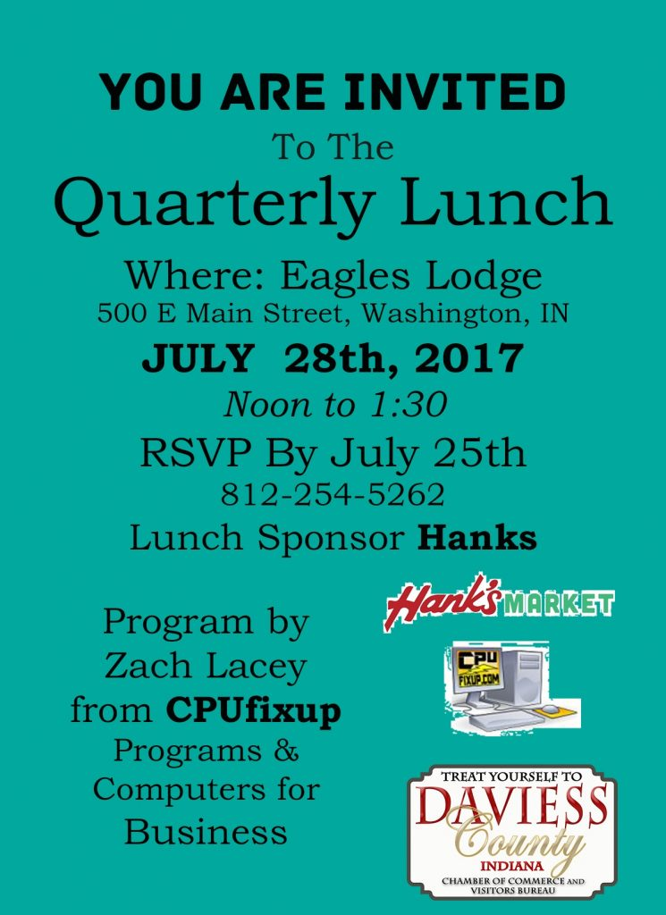 Quarterly lunch July 17