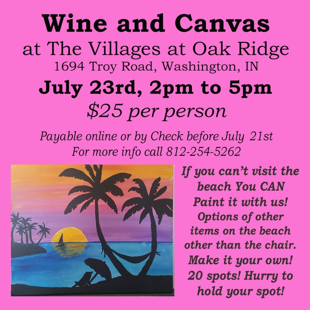 Wine and Canvas  at The Villages at Oak Ridge