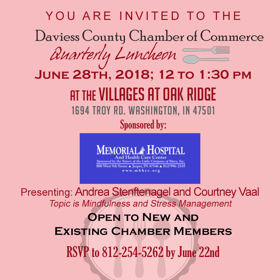 Quarterly Luncheon at the Villages at Oak Ridge Sponsored by Memorial Health