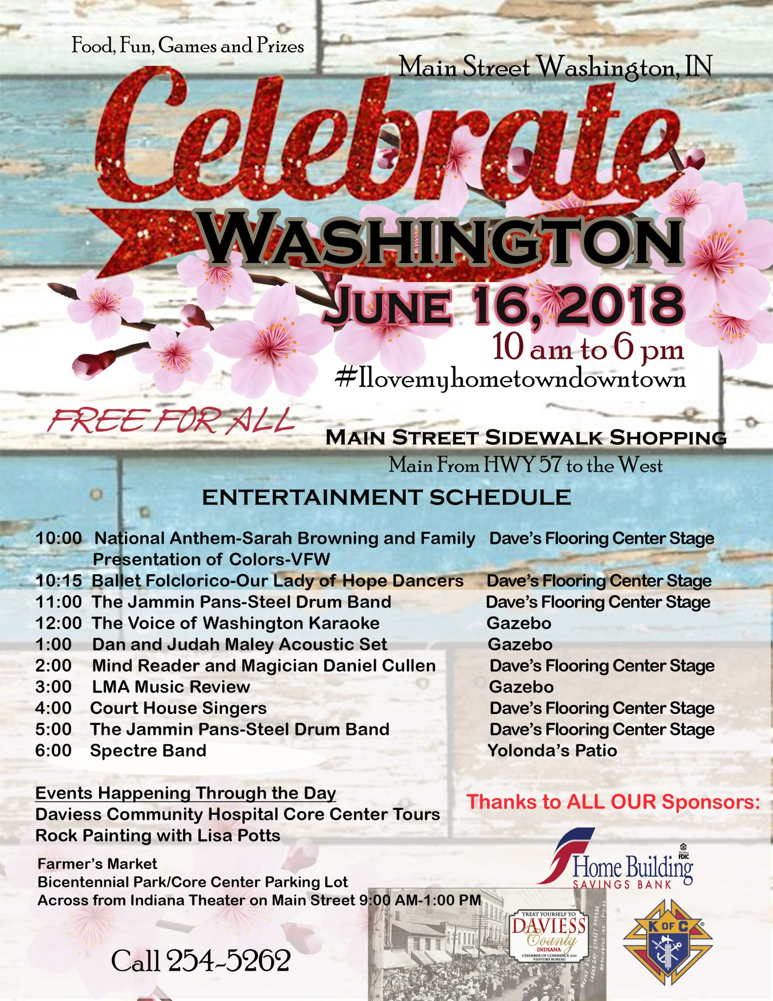 Celebrate Washington on Main in Washington, IN!!