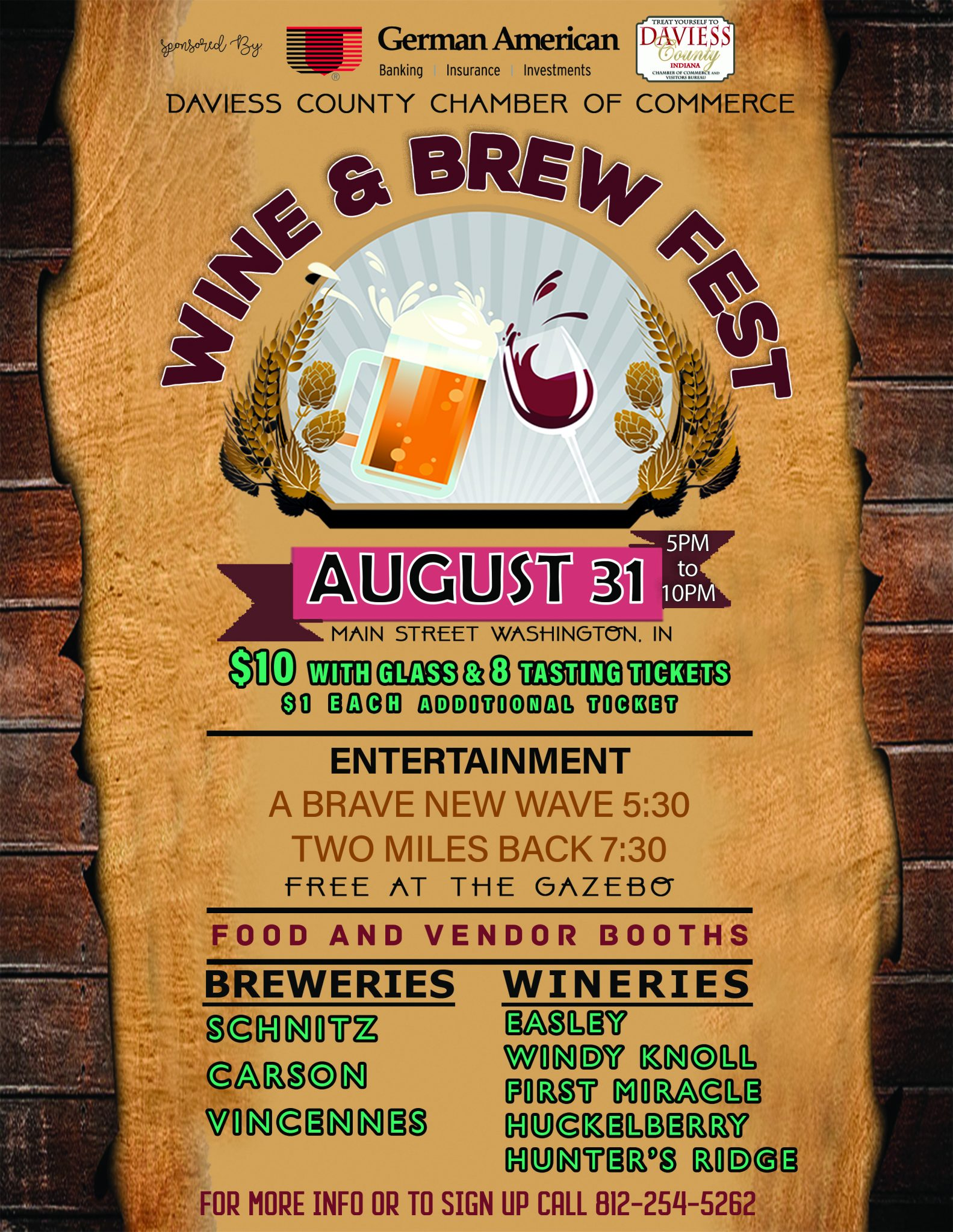 Wine and Brew Fest is coming!!!
