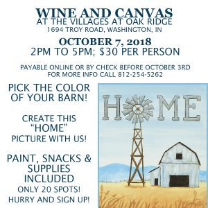 Wine and Canvas October 7, 2018